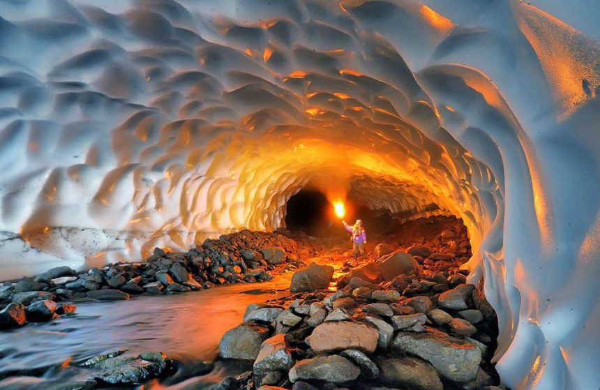 THE EVER-FROZEN AZNA SNOW TUNNEL