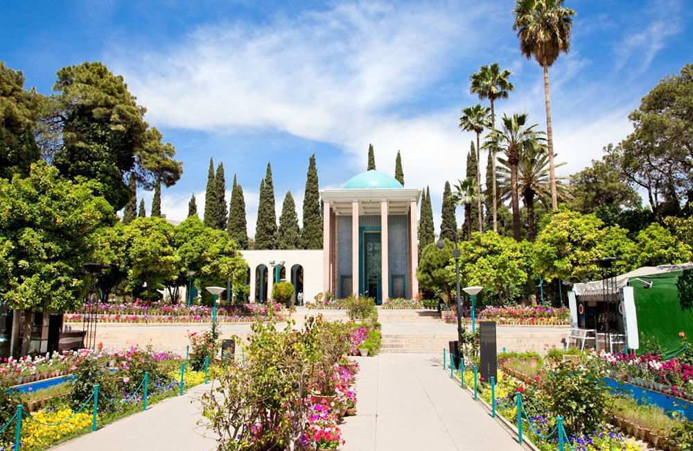 Persian Poet Saadi, Saadieh in Shiraz