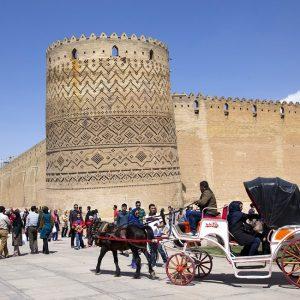 ARG-E KARIM KHAN ZAND, the Medieval Fortress Residence of the Great Karim Khan in Shiraz, Iran.
