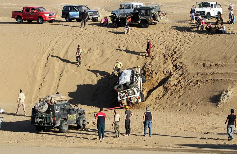 Desert Environment and Camping Spot (Maranjab Desert)
