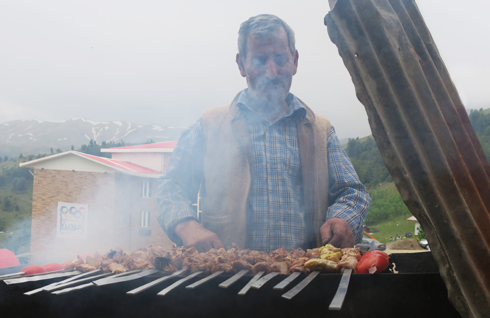 Kebab Cooking in Nature on lost paradise of Gilan