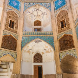 Chahar Bagh School, the Turquoise Pearl of Isfahan, Iran