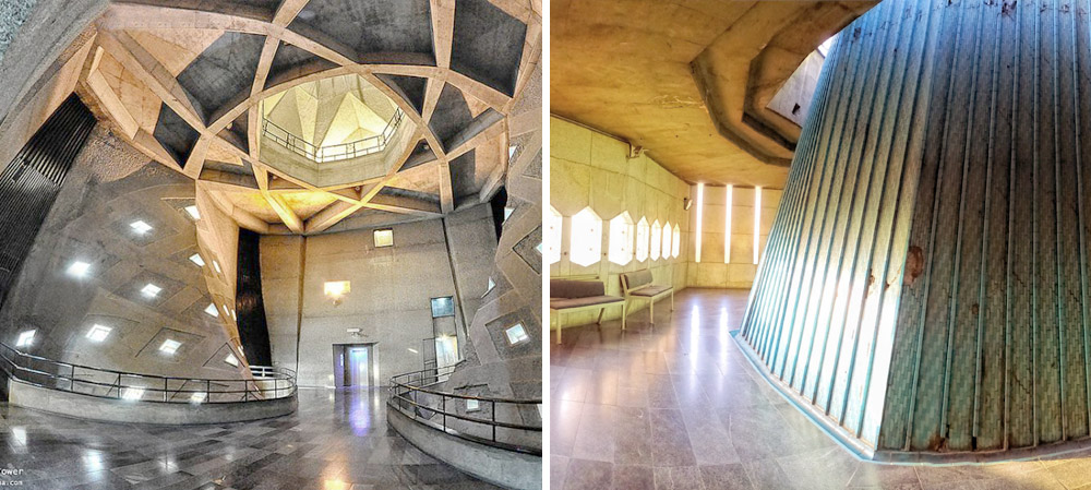 The interior of the Azadi Tower