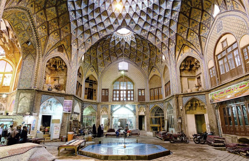 Kashan's Rustic Marketplace, the Traditional Bazaar of Kashan