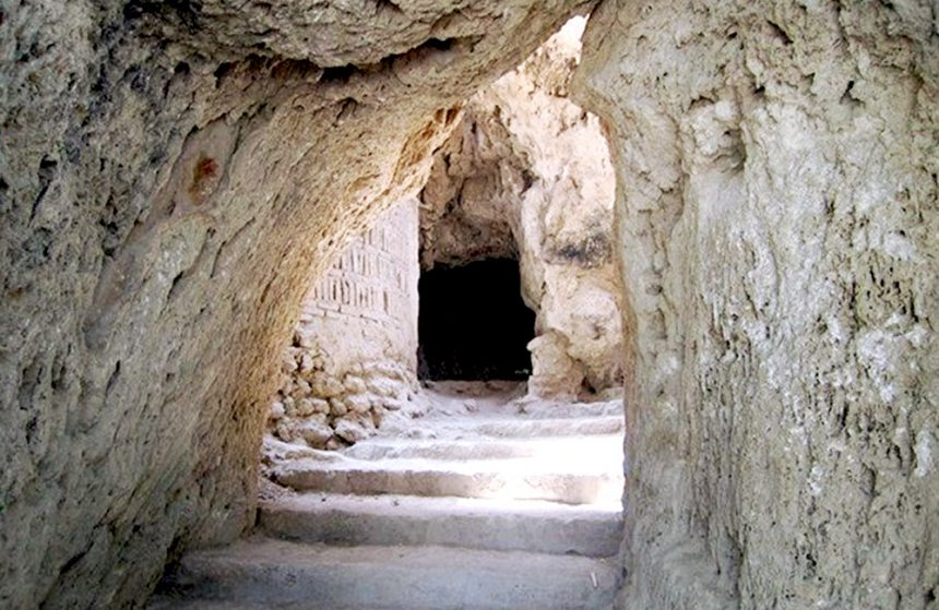 Ancient Mysterious Manmade Niasar Caves, in Kashan, Iran