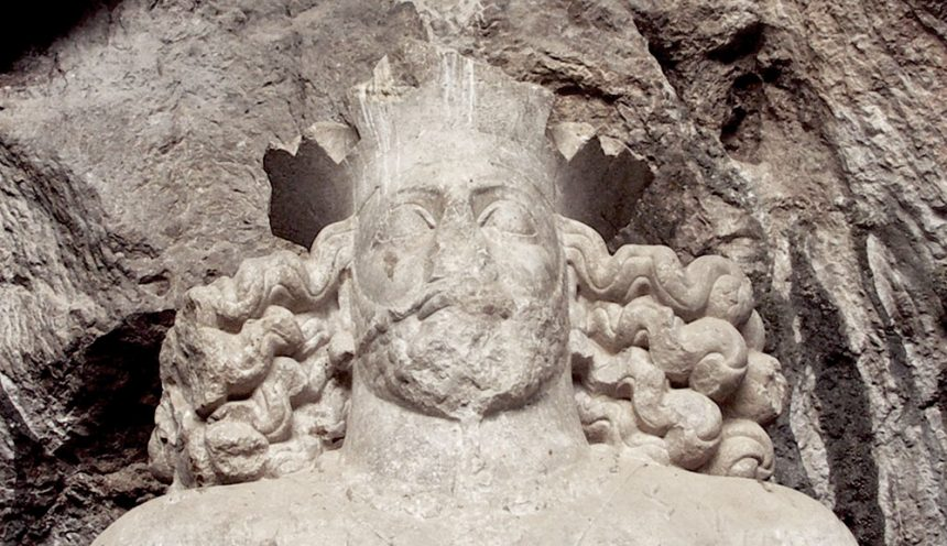 Statue of Shapur I, the 1,700 Year Old Masterpiece Deep in Shapur Cave, Iran