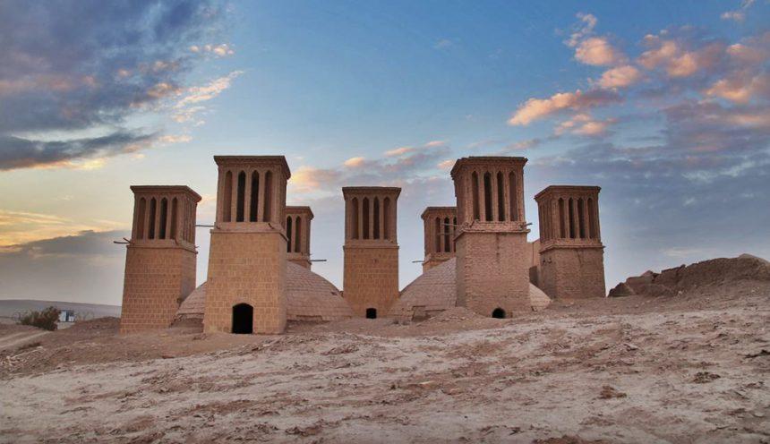 Ab Anbar Haft Badgir (Seven-windcatcher Water Reservoir) in Yazd, Iran