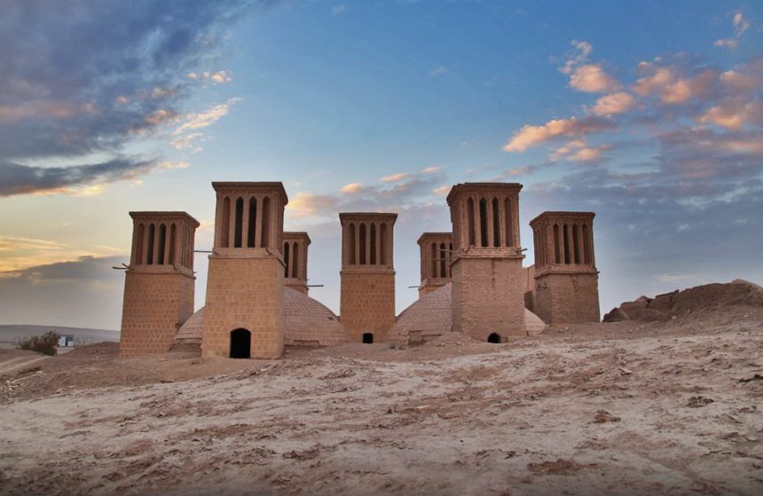 Ab Anbar Haft Badgir (Seven-windcatcher Water Reservoir) in Yazd, Iran